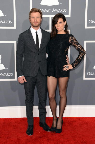 LOS ANGELES, CA - FEBRUARY 10:  Singer Dierks Bentley and wife Cassidy Black arrive at the 55th Annual GRAMMY Awards at Staples Center on February 10, 2013 in Los Angeles, California.  (Photo by Jason Merritt/Getty Images)