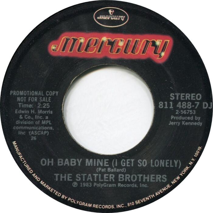 Statler Brothers OH BABY MINE