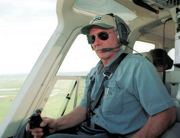 391827 01: (U.S. Tabs Out) Actor Harrison Ford Flies His Helicopter July 10, 2001 Near Jackson, Wy. Ford Located And Rescued Missing 13-Year-Old Boy Scout Cody Clawson.  (Photo By Getty Images)