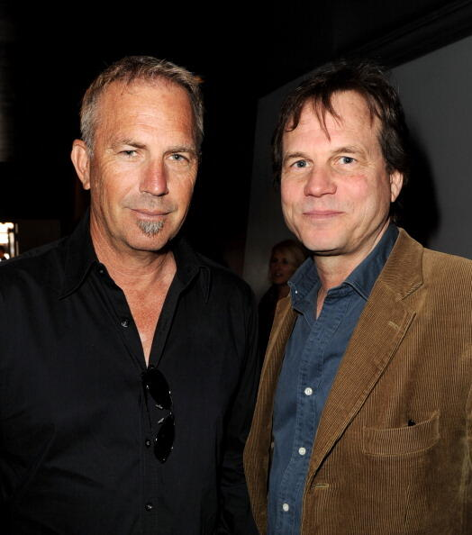 SANTA MONICA, CA - MAY 20:  Actors Kevin Costner (L) and Bill Paxton arrive at a screening of The History Channel's