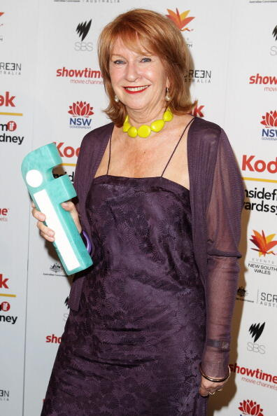 SYDNEY, AUSTRALIA - NOVEMBER 14:  Janet Patterson poses with her award for Best Production Design at the 2010 Inside Film Awards at City Recital Hall on November 14, 2010 in Sydney, Australia.  (Photo by Brendon Thorne/Getty Images)
