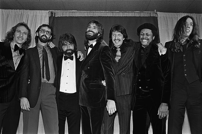 Backstage at the 1980 Grammy Awards
