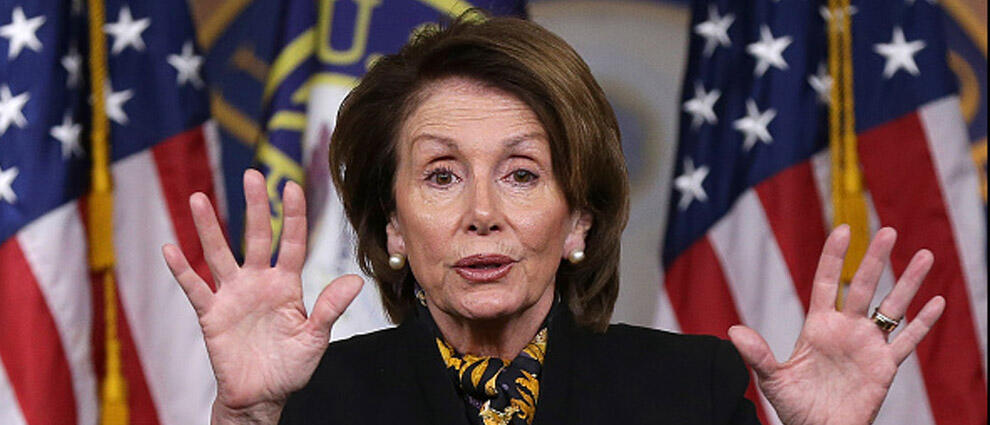 WASHINGTON, DC - MARCH 19:  House Minority Leader Nancy Pelosi (D-CA) answers questions during her weekly press conference at the U.S. Capitol on March 19, 2015 in Washington, DC. Pelosi answered questions on the Republican budget, Hillary Clinton's email