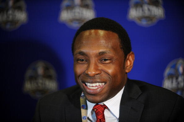 NEW ORLEANS, LA - FEBRUARY 14: Former NBA player Avery Johnson answers questions during NBA All Star Press Conferences and Media Availability as part of 2014 All-Star Weekend at the Hyatt Regency Hotel on February 14, 2014 in New Orleans, Louisiana. NOTE