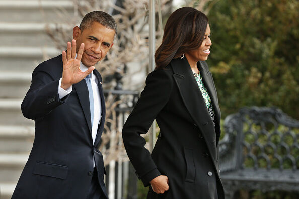 President And Mrs. Obama Depart White House For Boston