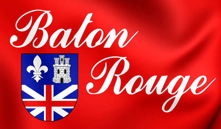 Flag of Baton Rouge (Louisiana), USA.