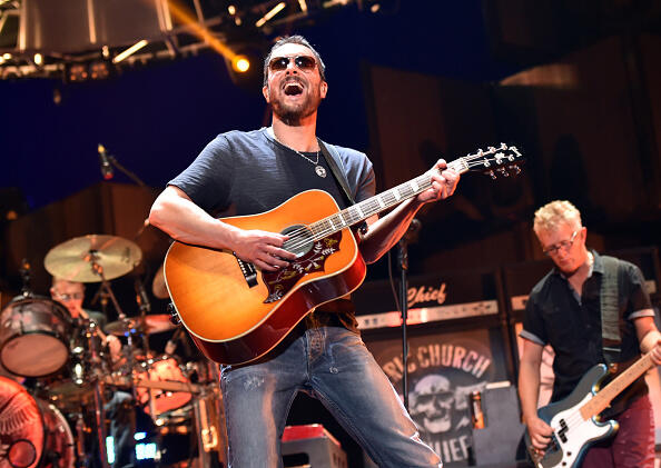 LAS VEGAS, NV - SEPTEMBER 20:  Musician Eric Church performs onstage during the 2014 iHeartRadio Music Festival at the MGM Grand Garden Arena on September 20, 2014 in Las Vegas, Nevada.  (Photo by Kevin Winter/Getty Images for iHeartMedia)