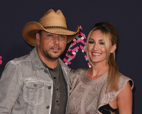 NASHVILLE, TN - JUNE 08:  Jason Aldean and Brittany Kerr attend the 2016 CMT Music awards at the Bridgestone Arena on June 8, 2016 in Nashville, Tennessee.  (Photo by C Flanigan/WireImage)