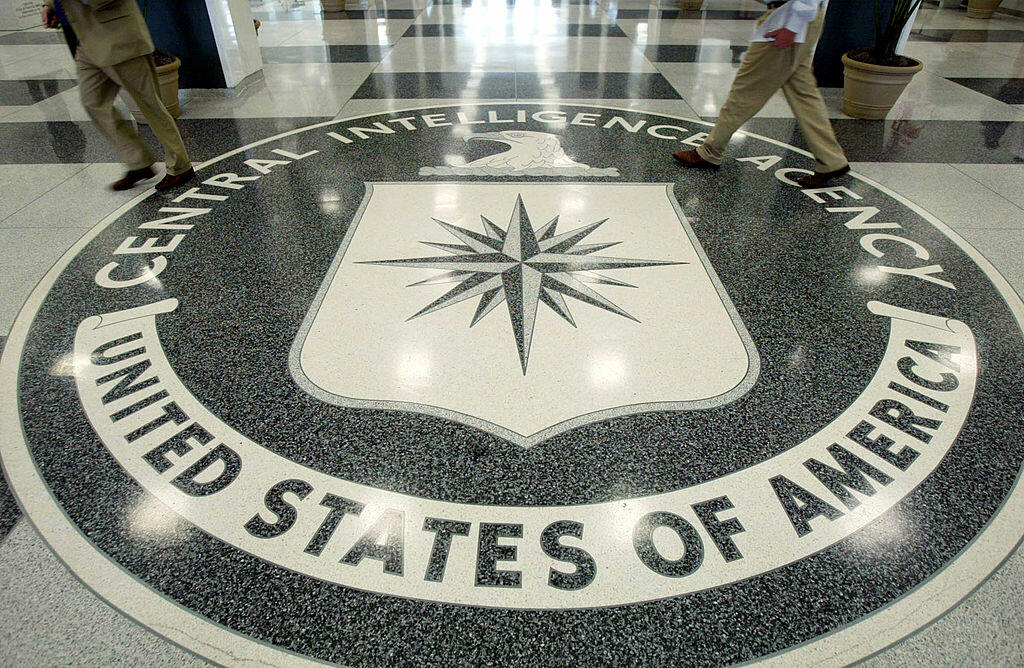 LANGLEY, VA - JULY 9: The CIA symbol is shown on the floor of CIA Headquarters, July 9, 2004 at CIA headquarters in Langley, Virginia. Earlier today the Senate Intelligence Committee released its report on the numerous failures in the CIA reporting of all