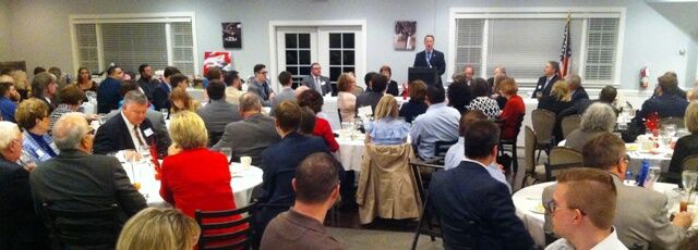 Ohio Secretary of State Jon Husted spoke to the Ross County Republicans in the Lincoln Day Dinner