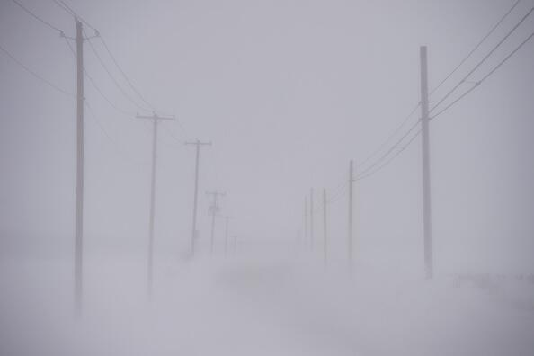 EPHRATA, PA - March 14:  Wind creates near whiteout conditions during a snowstorm March 14, 2017 March 14, 2017 in Ephrata, Pennsylvania.  A blizzard is forecast to bring more than a foot of snow and high winds to up to eight states in the Northeast region, as New York and New Jersey are under a state of emergency.  School districts across the entire region were closed and thousands of flights were canceled.  (Photo by Mark Makela/Getty Images)