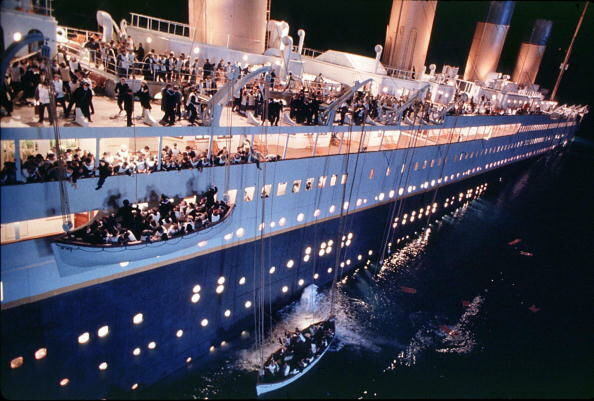 "A scene from the movie ""Titanic"" which was nominat"