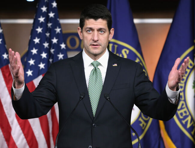 Paul Ryan Holds Weekly Press Briefing At Capitol