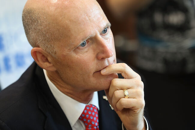 Florida Gov. Scott Attends Zika Preparedness Roundtable In Miami Beach