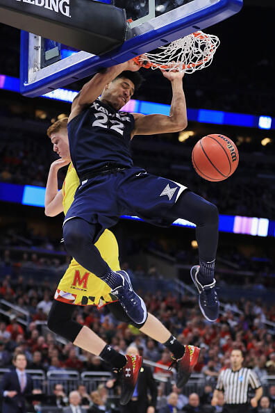 ORLANDO, FL - MARCH 16:  Kaiser Gates #22 of the Xavier Musketeers dunks the ball in the second half against the Maryland Terrapins during the first round of the 2017 NCAA Men's Basketball Tournament at Amway Center on March 16, 2017 in Orlando, Florida.  (Photo by Mike Ehrmann/Getty Images)