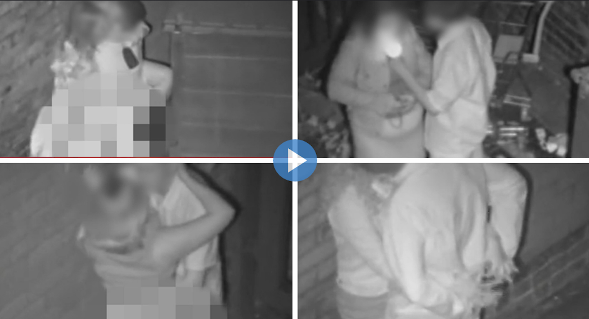 About couples caught having sex on cctv