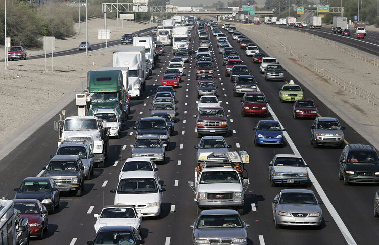 Phoenix Commuters Major Traffic Congestion