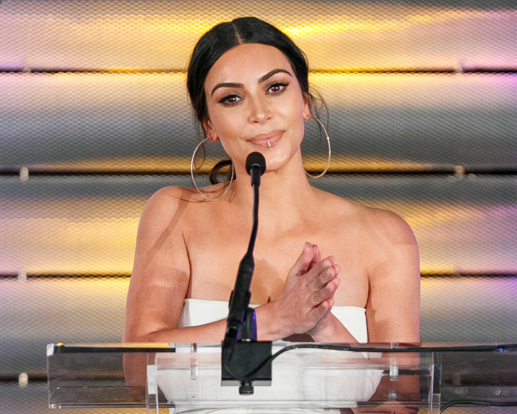 BEVERLY HILLS, CA - MARCH 11:  Television personality Kim Kardashin speaks onstage at the Family Equality Council's Impact Awards at the Beverly Wilshire Hotel on March 11, 2017 in Beverly Hills, California.  (Photo by Rich Polk/Getty Images for Family Equality Council )