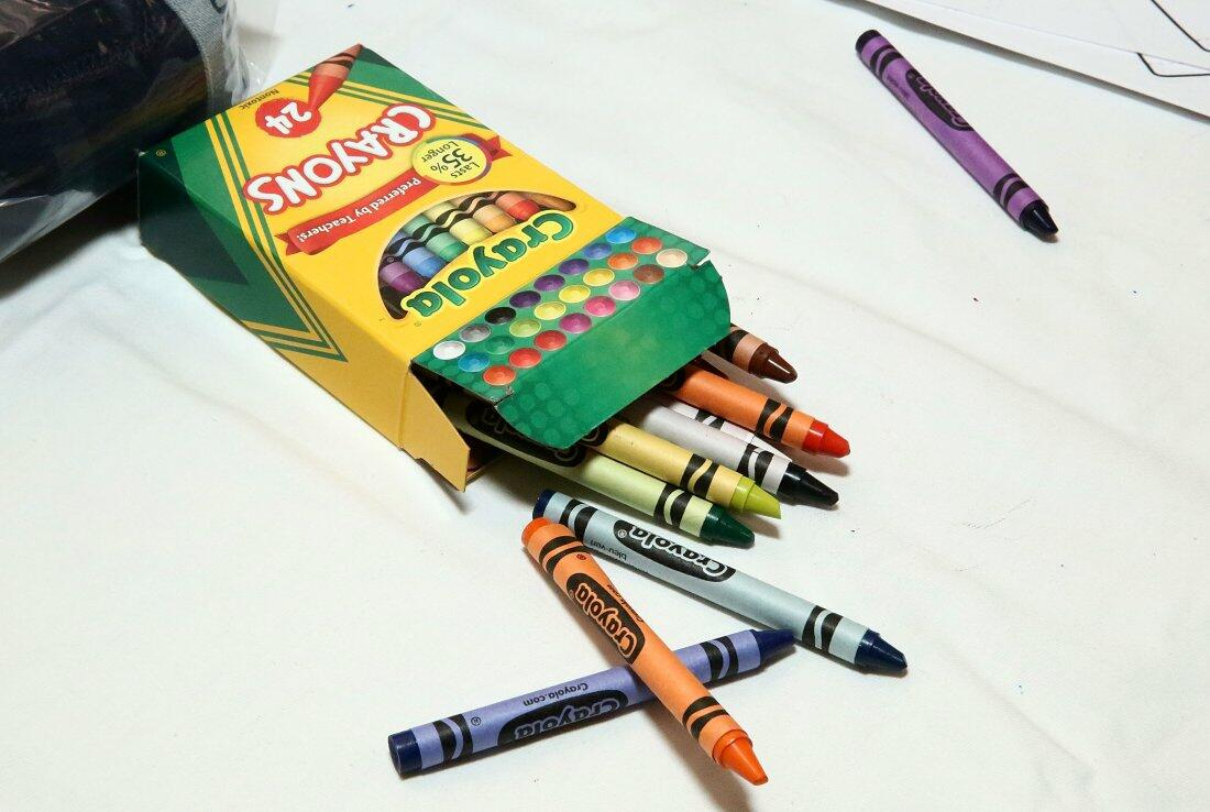 NEW YORK, NY - AUGUST 16:  Crayola crayons are displayed at The MOMS & New York Family Magazine Cover Party at 100 Barclay on August 16, 2016 in New York City.  (Photo by Astrid Stawiarz/Getty Images)