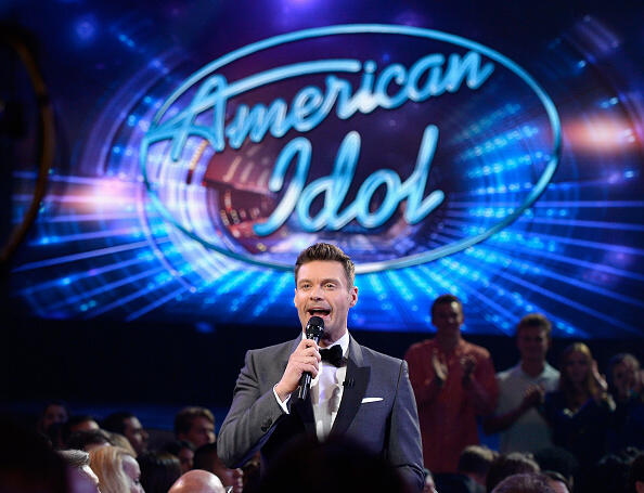 HOLLYWOOD, CALIFORNIA - APRIL 07: Host Ryan Seacrest speaks in the audience during FOX's