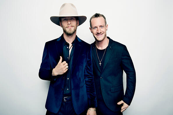 Musicians Brian Kelley and Tyler Hubbard of Florida Georgia Line pose in the press room during the 2016 American Music Awards at Microsoft Theater on November 20, 2016 in Los Angeles, California.  (Photo by Mike Windle/AMA2016/Getty Images for dcp)