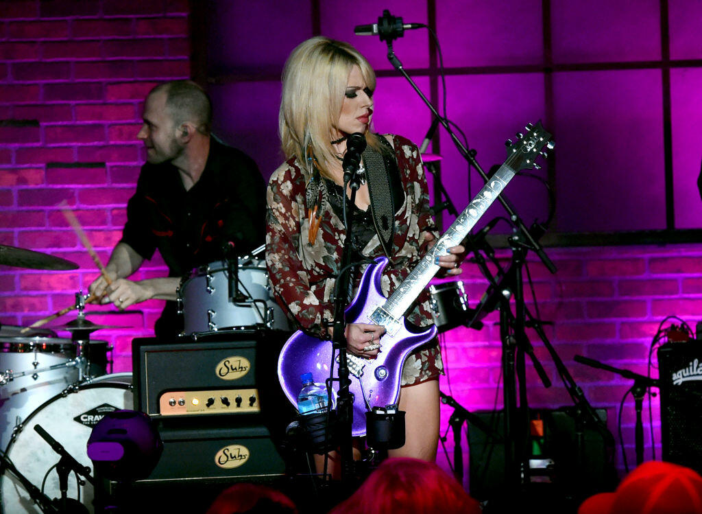 NASHVILLE, TN - MARCH 20:  Musical artist Orianthi attends a special Woman's March Show at Skyville Live on March 20, 2017 in Nashville, Tennessee.  (Photo by Rick Diamond/Getty Images for Skyville)