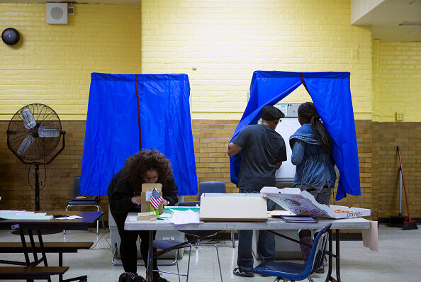 Nation Goes To The Polls In Contentious Presidential Election Between Hillary Clinton And Donald Trump