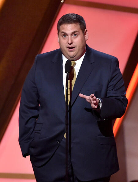 HOLLYWOOD, CA - NOVEMBER 14: Actor Jonah Hill speaks onstage during the 18th Annual Hollywood Film Awards at The Palladium on November 14, 2014 in Hollywood, California.  (Photo by Kevin Winter/Getty Images)