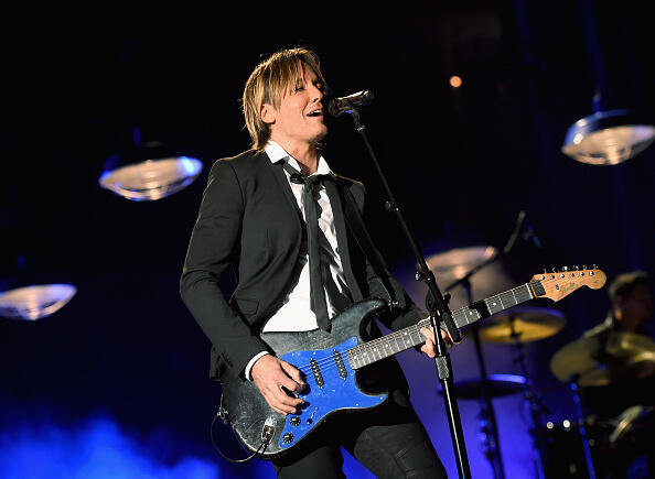 LAS VEGAS, NV - APRIL 02:  Musician Keith Urban performs onstage during the 52nd Academy Of Country Music Awards at T-Mobile Arena on April 2, 2017 in Las Vegas, Nevada.  (Photo by Kevin Winter/ACMA2017/Getty Images for ACM)
