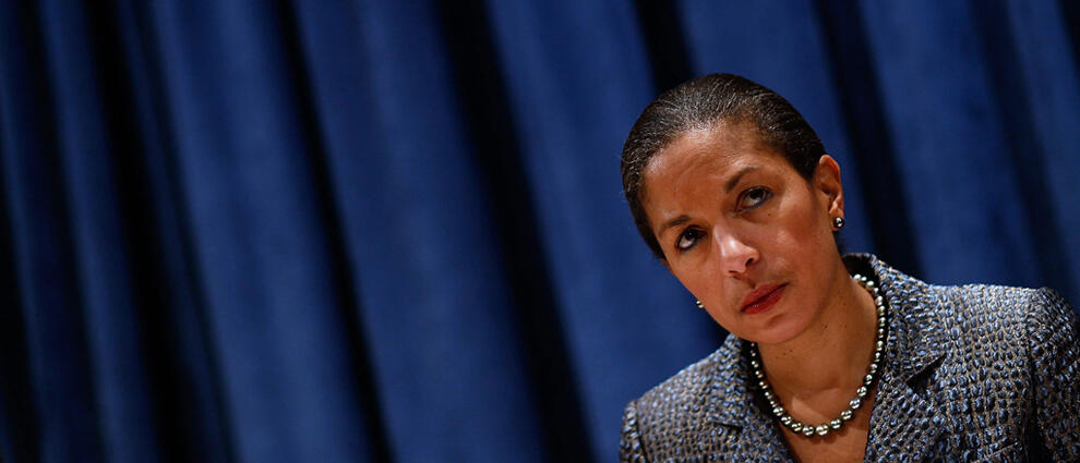 NEW YORK, NY - DECEMBER 02:  Susan Rice, the U.S. Permanent Representative to the United Nations, listens to a question at a press conference at the UN December 2, 2010 in New York City.   Rice is taking over the rotating UN Security Council presidency fo