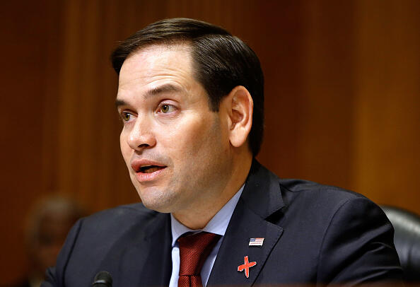 WASHINGTON, DC - FEBRUARY 15:  Sen. Marco Rubio (R-FL) speaks at a Senate Foreign Relations Committee hearing on Ending Modern Slavery: Building on Success at Dirksen Senate Office Building on February 15, 2017 in Washington, DC.  (Photo by Paul Morigi/WireImage)
