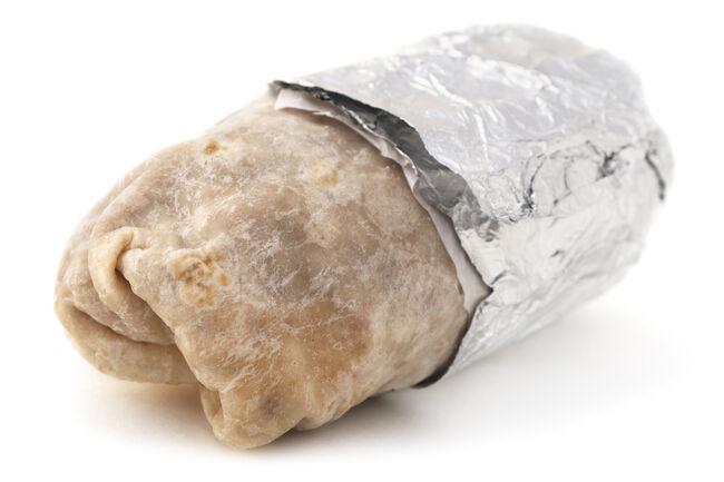Isolatd Burrito