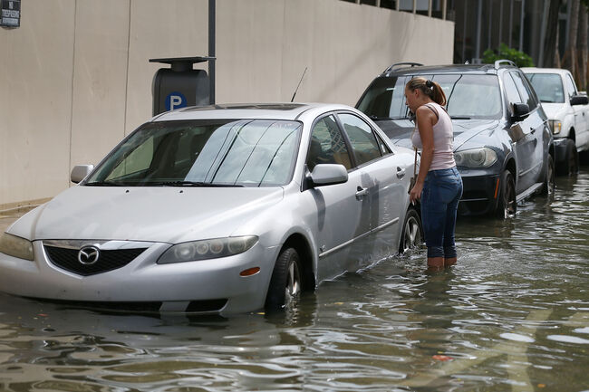 Global Warming, Full Moon, High Tide Cause Flooding In Miami Beach