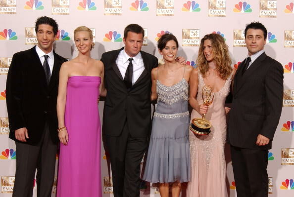 Friends cast at 54th Annual Primetime Emmy Awards Backstage