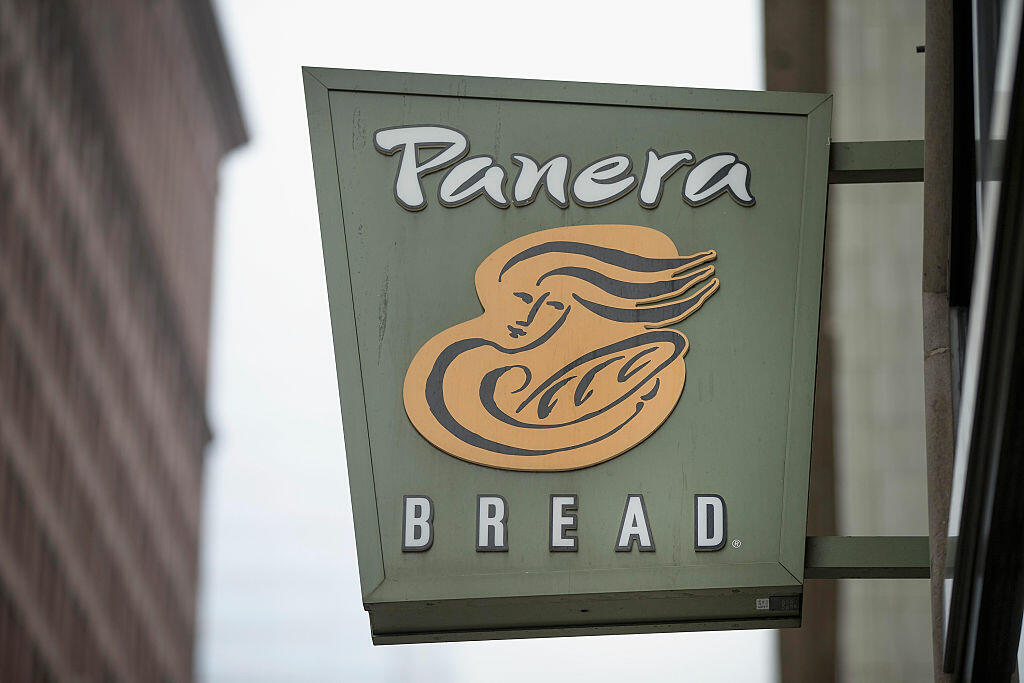CHICAGO, IL - MAY 05:  A sign marks the location of a Panera Bread restaurant on May 5, 2015 in Chicago, Illinois.  The company said today it has eliminated or intends to eliminate by the end of 2016 a list of more than 150 artificial colors, flavors, sweeteners and preservatives from food served in its U.S. restaurants.  (Photo by Scott Olson/Getty Images)