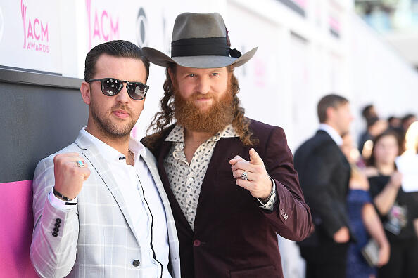 LAS VEGAS, NV - APRIL 02:  Musicians T.J. Osborne (L) and John Osborne of musical group Brothers Osborne attend the 52nd Academy Of Country Music Awards at T-Mobile Arena on April 2, 2017 in Las Vegas, Nevada.  (Photo by Matt Winkelmeyer/ACMA2017/Getty Images for ACM)