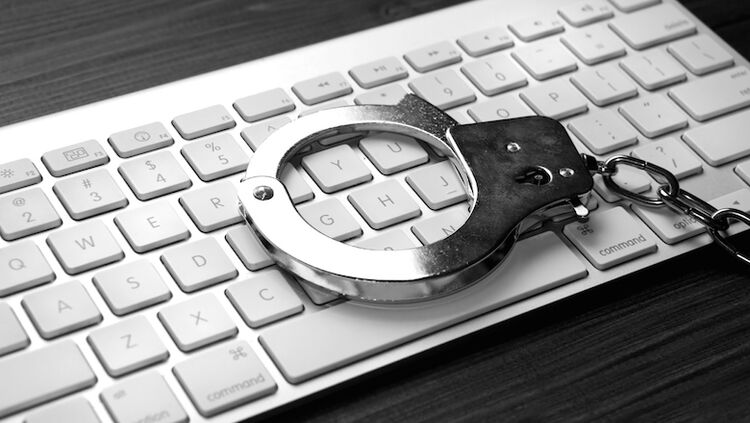 Keyboard with handcuffs