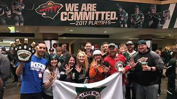 Wild Blog - KFAN at Game 1 of MN Wild vs St. Louis Blues thanks to Frattallone's!