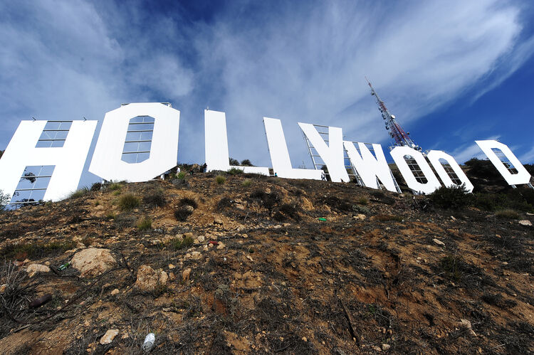 US-ENTERTAINMENT-HOLLYWOOD SIGN-MAKEOVER