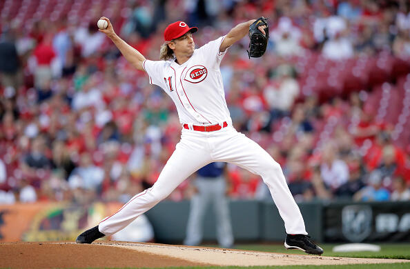 CINCINNATI, OH - APRIL 13:  Bronson Arroyo #61 of the Cincinnati Reds throws a pitch against the Milwaukee Brewers at Great American Ball Park on April 13, 2017 in Cincinnati, Ohio.  (Photo by Andy Lyons/Getty Images)