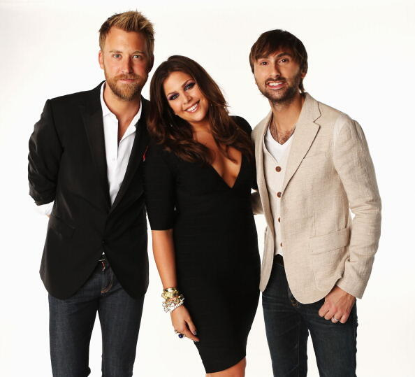 NASHVILLE, TN - JUNE 06:  Charles Kelley, Hillary Scott and Dave Haywood of Lady Antebellum pose in the Wonderwall.com.com Portrait Studio during 2012 CMT Music awards at the Bridgestone Arena on June 6, 2012 in Nashville, Tennessee.  (Photo by Christophe
