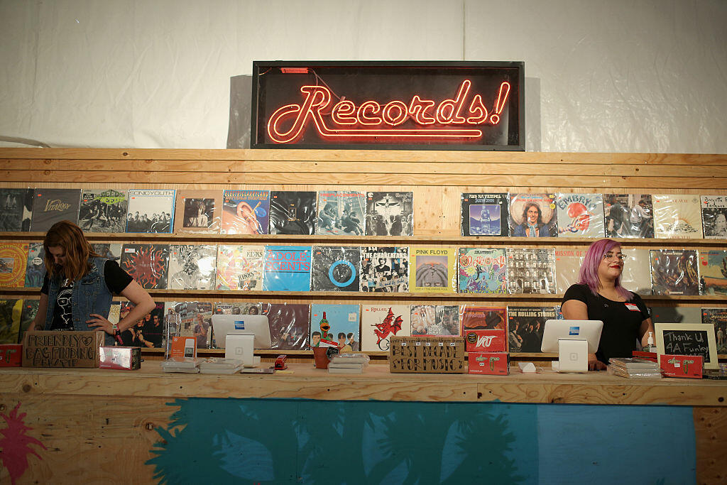 INDIO, CA - APRIL 22: A view inside the record store during day 1 of the 2016 Coachella Valley Music & Arts Festival Weekend 2 at the Empire Polo Club on April 22, 2016 in Indio, California.  (Photo by Mike Windle/Getty Images for Coachella)