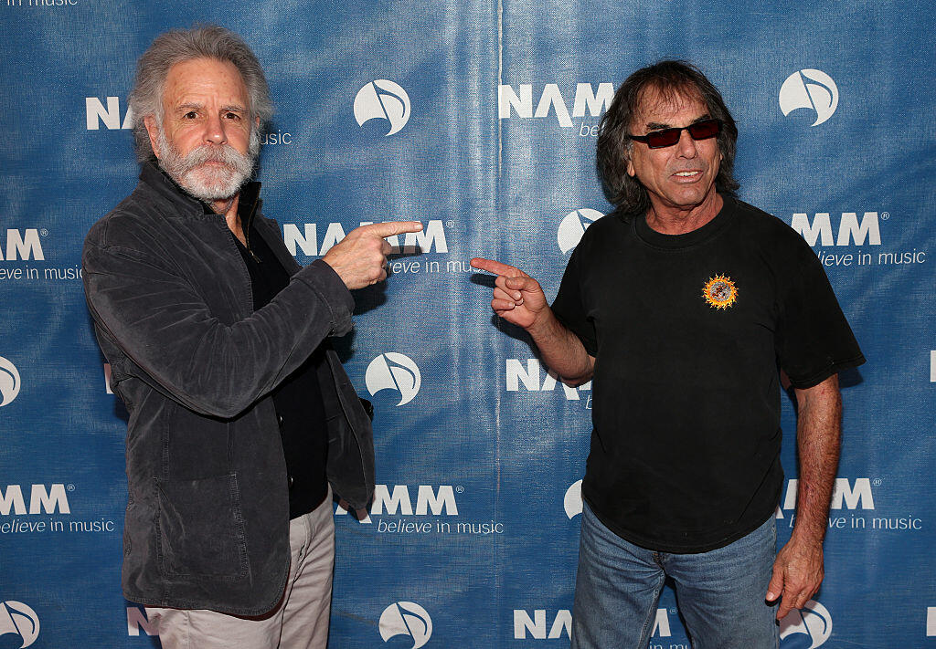 ANAHEIM, CA - JANUARY 23:  Musicians Bob Weir and Mickey Hart  of the band