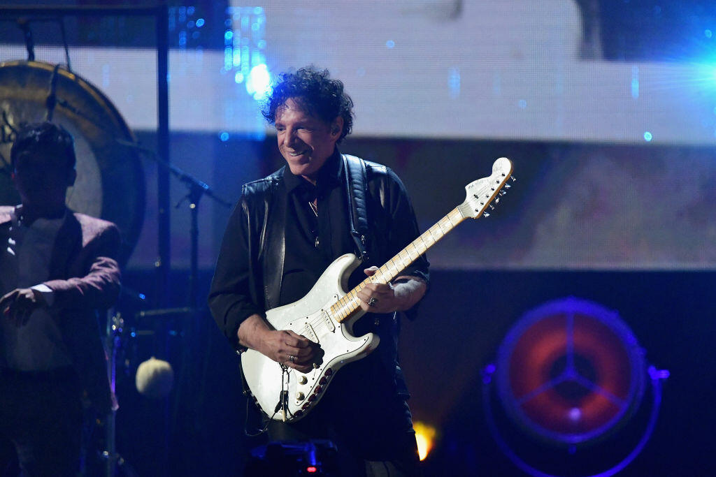 NEW YORK, NY - APRIL 07:  2017 Inductee Neal Schon of Journey performs onstage at the 32nd Annual Rock & Roll Hall Of Fame Induction Ceremony at Barclays Center on April 7, 2017 in New York City. The event will broadcast on HBO Saturday, April 29, 2017 at 8:00 pm ET/PT  (Photo by Mike Coppola/Getty Images)