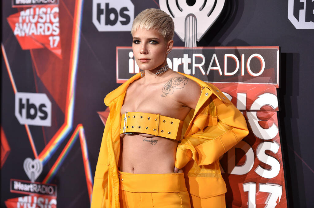 INGLEWOOD, CA - MARCH 05:  Singer Halsey attends the 2017 iHeartRadio Music Awards which broadcast live on Turner's TBS, TNT, and truTV at The Forum on March 5, 2017 in Inglewood, California.  (Photo by Alberto E. Rodriguez/Getty Images)