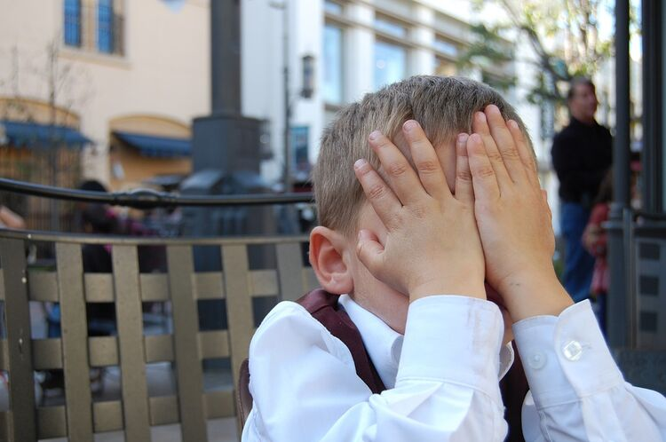 Exasperated Boy Tired Child Youth Facepalm