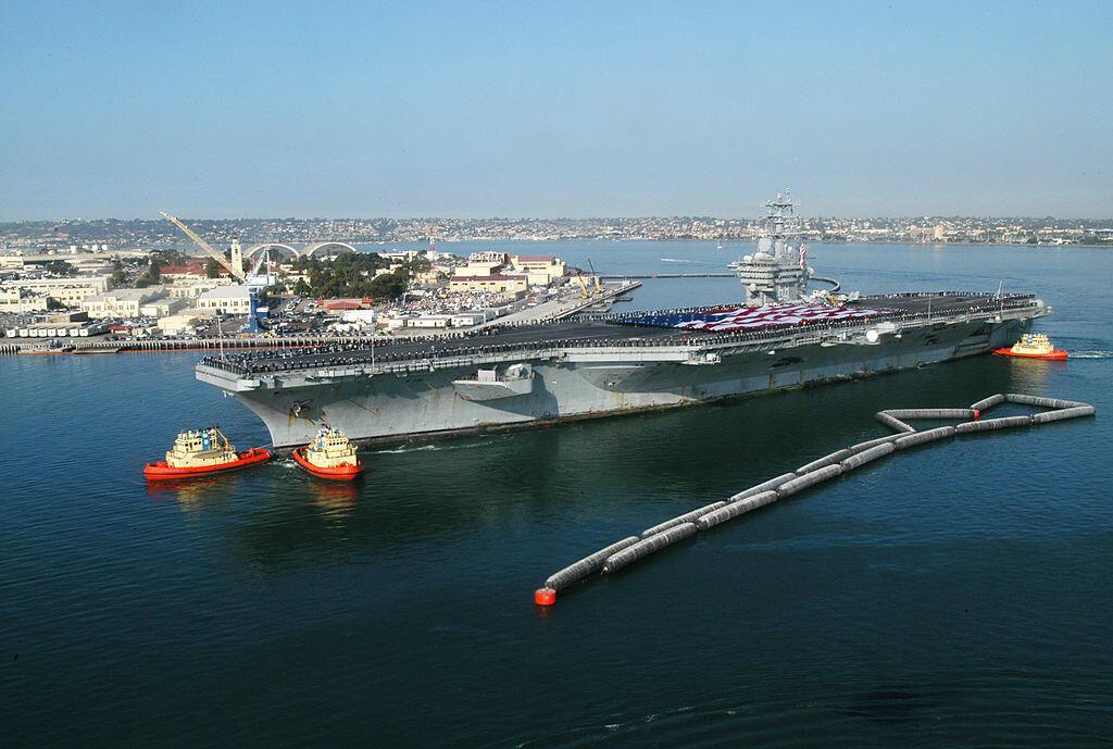 USS Nimitz Returns To Homeport