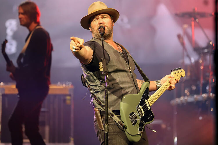 Justin Moore, Lee Brice and William Michael Morgan at the Schott