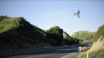 Crystal Perez - LOCAL: Dirt-biker Jumps the 60 Freeway (VIDEO)