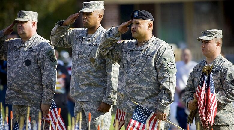 Iraq War Dead Honored On Veterans Day With Flag Display